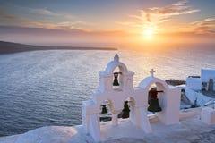 Santorini Sunset Stock Photography