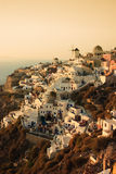 Santorini Sunset. The sun sets over the pictoresque village of Oia, Santorini Stock Photography