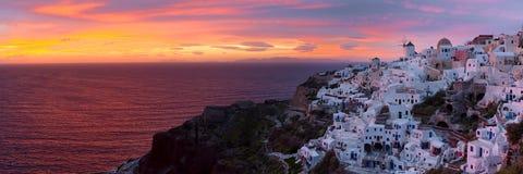Santorini. Sunset in Santorini, aegean sea. Cyclades, Greece Stock Photography
