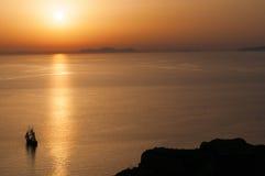 Santorini Sunset Stock Image