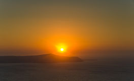 Santorini sunset Stock Photos