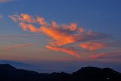 Santorini sunset cloud stock images