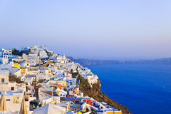 Santorini sunset - Greece Royalty Free Stock Image