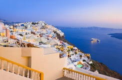 Santorini sunset - Greece Royalty Free Stock Images
