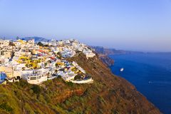 Santorini sunset - Greece Stock Image