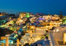 Santorini sunset - Greece Stock Image