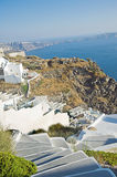 Santorini at sunset, Greece Royalty Free Stock Photography