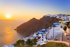 Santorini sunset - Greece Royalty Free Stock Photography