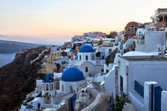 Santorini sunset. Greece Stock Image