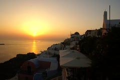 Santorini sunset Greek islands Stock Photos