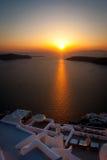 Santorini Sunset - Greek Islands, Greece Stock Photos