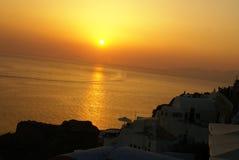 Santorini sunset Greek islands Royalty Free Stock Image