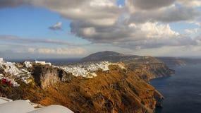 Santorini Sunset Landscape, Cyclades Stock Image