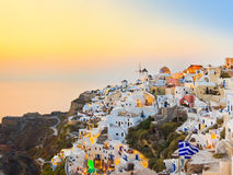 Santorini sunset (Oia) - Greece Royalty Free Stock Photography