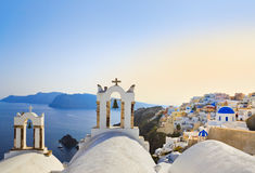 Santorini sunset (Oia) - Greece Royalty Free Stock Image