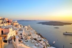 Santorini sunset Royalty Free Stock Photography