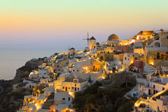 Santorini sunset (Oia) - Greece Stock Photos