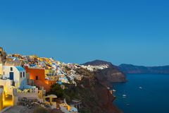 Santorini sunset (Oia) - Greece Royalty Free Stock Images