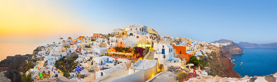Santorini sunset (Oia) - Greece. Vacation background Stock Image