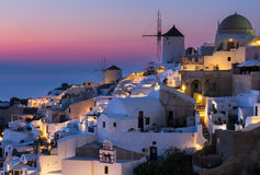 Santorini sunset. Sunset at Oia santorini Greek island Stock Photos