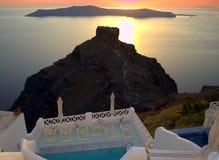 Santorini sunset scene Royalty Free Stock Photos