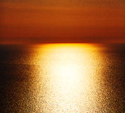 In santorini     sunset and the sky mediterranean red sea Stock Photos