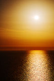 In santorini     sunset and the sky mediterranean red sea Royalty Free Stock Photography