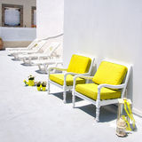Santorini suntrap Stock Images