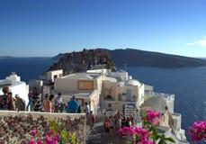 Santorini-Szene, Griechenland Lizenzfreies Stockbild