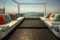 Santorini típico imagens de stock royalty free