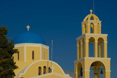 Santorini típico fotografia de stock royalty free