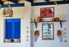 Santorini Taverna Stock Images