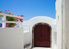 Santorini terrace Royalty Free Stock Photos