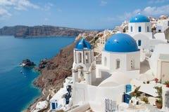 Santorini and Therasia Royalty Free Stock Photography