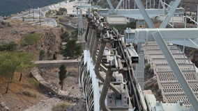 Santorini / Thira, Greece Cable Car stock video footage