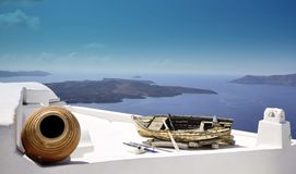 Santorini,Thira town Stock Images