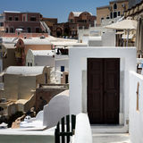 Santorini, traditional cycladic architecture Royalty Free Stock Images