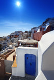 Santorini with traditional house Stock Images