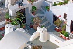Santorini, traditionelles griechisches Haus Stockfotografie