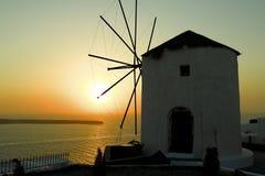 Santorini. Travel grece Island sunset Royalty Free Stock Photo