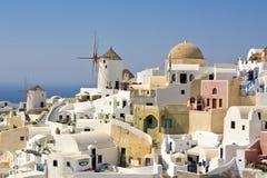 Santorini.Turizm. Corsa Fotografia Stock Libera da Diritti