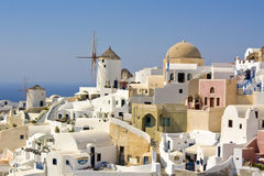 Santorini.Turizm. Course Photographie stock libre de droits