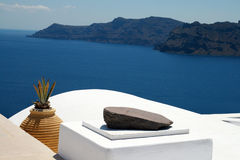 Santorini typical view stock images