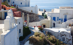 Santorini  typical view Royalty Free Stock Photos