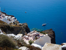 Santorini  typical view Royalty Free Stock Image