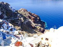 Santorini typical view Stock Photography