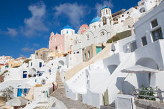 Santorini - The typically churches in Oia Stock Images