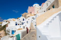 Santorini - The typically churches in Oia Royalty Free Stock Photography