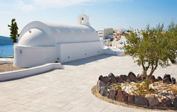 Santorini - typically little chapel in Oia. Royalty Free Stock Photos