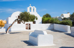 Santorini - typically little chapel in Oia. Stock Photography
